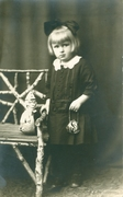 Little Girl with Purse and Clown