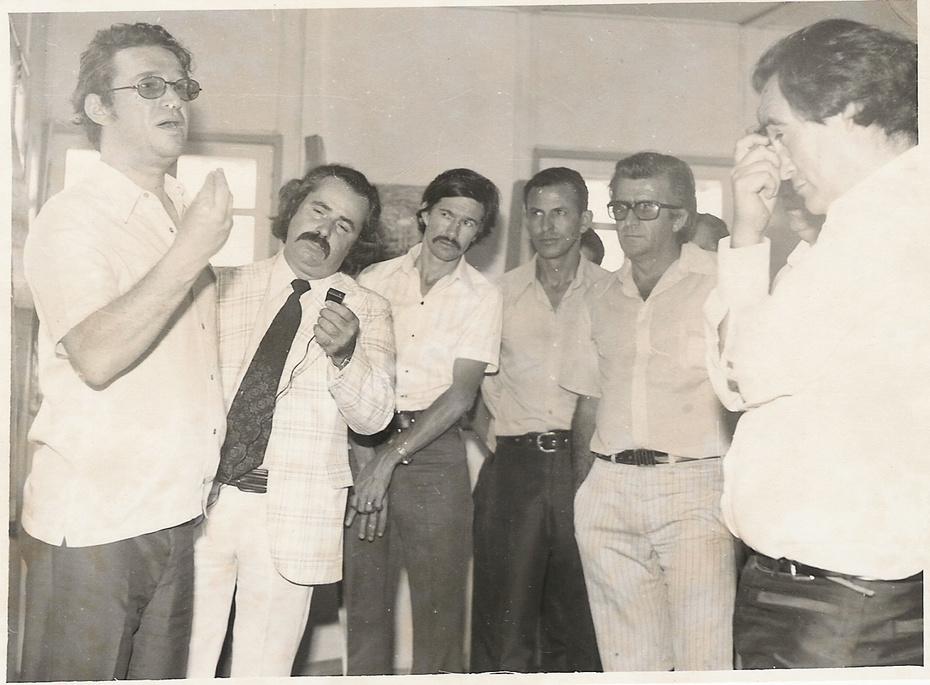 Visita dos vereadores e prefeito à FIAT 1975