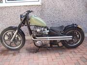 """650 Yamaha custom framed """"bobber"""""""