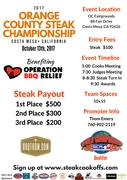 OC Steak Championship Flier