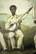 The Harmoneons banjo player