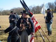 Me infront of the colors, Battle of Prairie Grove
