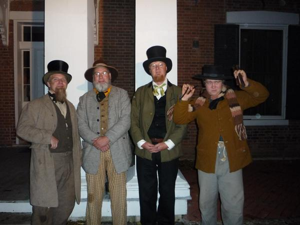 "Dave, Forrest, Carl, and Myself after like 17+""mini shows"" at the Wornall House"
