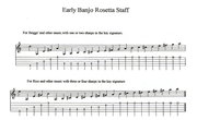 Early Banjo Rosetta Staff