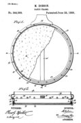 Minnie Dobson1884 Patent Drawing