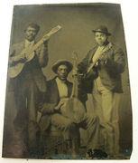 Minstrel Era Banjo Tintype