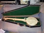 Tackhead banjo and  coffin case