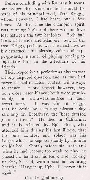 Converse Banjo Reminiscences The Cadenza June 1901