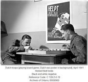 dutch troops playing crokinole