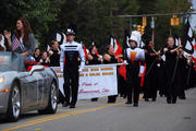 during the homcoming parade