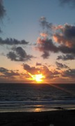 Sunset over Trebarwith Strand