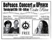 BePeace Concert, U Peace, Costa Rica