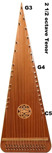 psaltery icon with tuning range