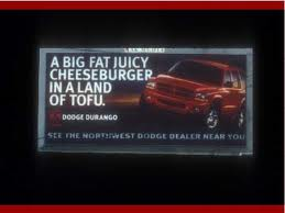 A cheeseburger in a land of tofu