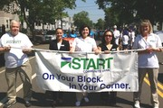Parade banner bearers