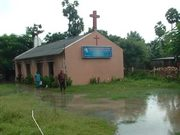church,congregation ,village church believers,orphan and poor children
