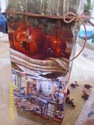 Ξύλινος κορμός με ρελιέφ και παλαίωση μοτίβου