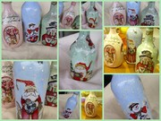 Μπουκάλια με Χριστουγεννιάτικο μοτίβο
