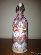 """Χριστουγεννιάτικο μπουκάλι με μερακλήδες χιονάνθρωπους"""""""
