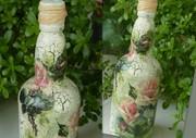 Μπουκάλι με τριαντάφυλλα