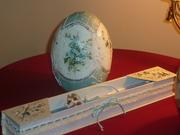 Κεραμικό αυγό και λαμπάδα στο λαμπαδόκουτο