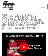 Daily HipHop Jamz Featuring The Lunatic Bandit Video Game App BY Young Gifted Game Division