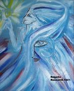 """Spirit Sparking A Star""-Oil On Canvas-2011"