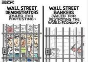 Demonstrators jail Bankers not