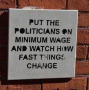 Politicians on minimum wage