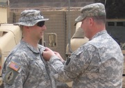 SFC Edson -  Receiving Army Commendation Medal in Iraq