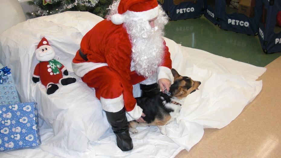 Uncooperative Santa.
