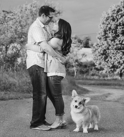 Our engagement photo with Casey