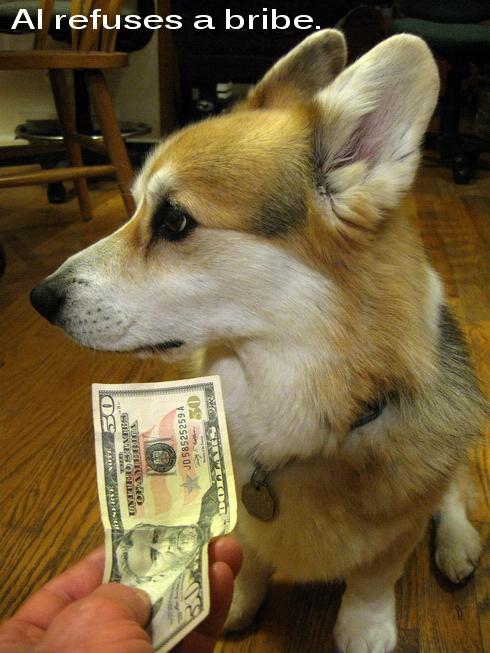 Al refuses a bribe