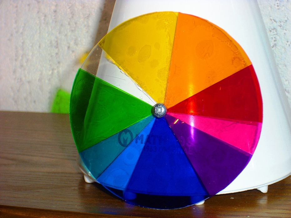 Selfmade color wheel for Mathmos Jupiter 2 and Fibre Space (first edition)