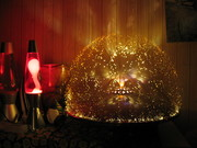 Flying saucer fibre optics lamp