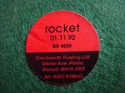 Crestworth Rocket base sticker