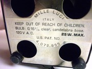 MILLE LUCI - TAG WITH U.S. PATENT NUMBER