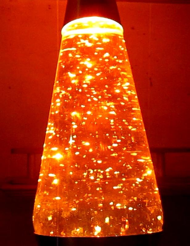 Orange Glitter Lamp 01