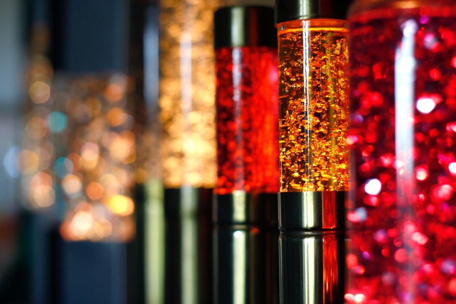 Various glitter lamps
