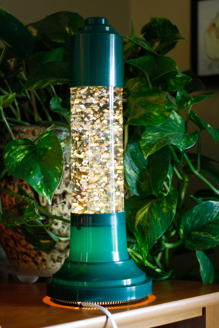 French Glitter Lamp