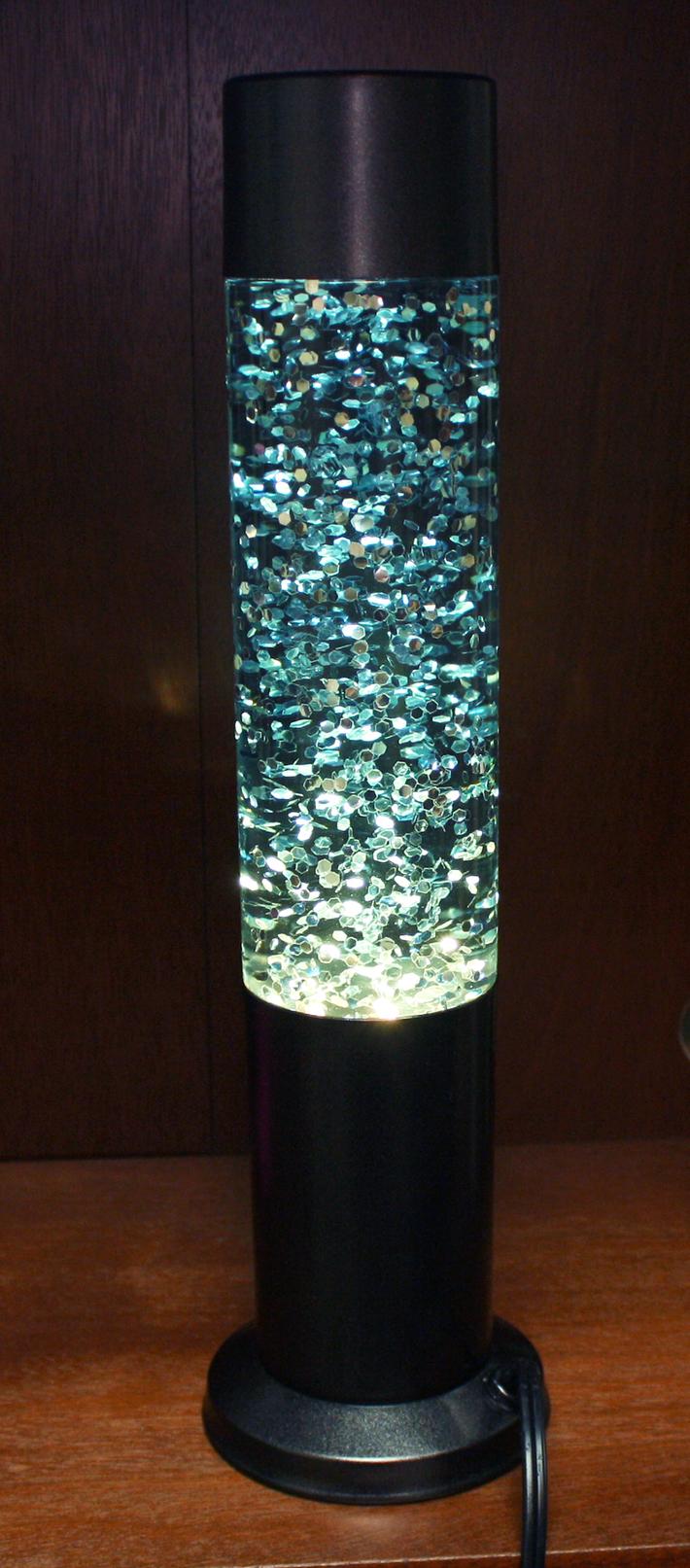 Glitter lamp customized by Loren Hall/Mark Hand