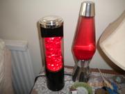 Unusual German Glitter lamp (left)