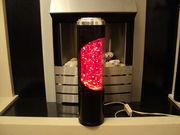 Unusual German glitter lamp - promo pic