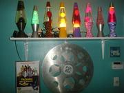 Shelf of lamps
