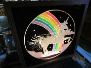 Glitter Graphics Unicorn/Rainbow lamp