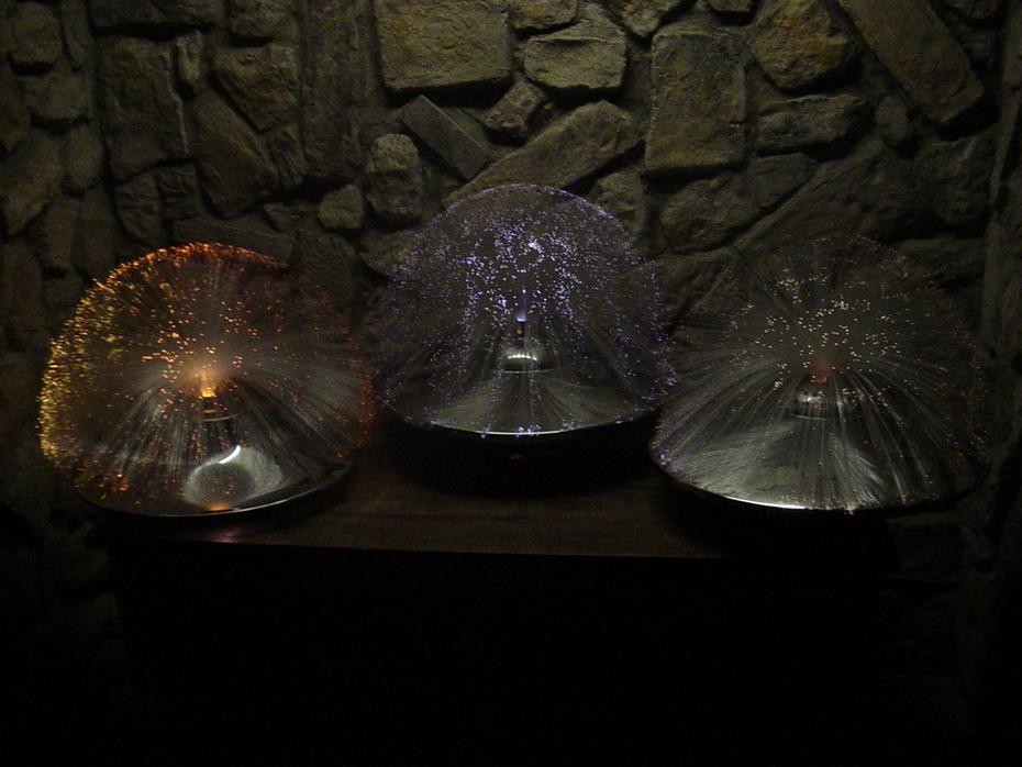 UFO Fiber Optic Lamps