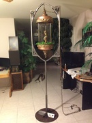 oil lamp stand before brass and copper
