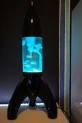 Mathmos Lunar Black with Clear/Blue Bottle