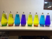 Custom Mathmos bottles by swapping the liquids