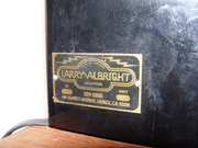 Larry Albright globe label